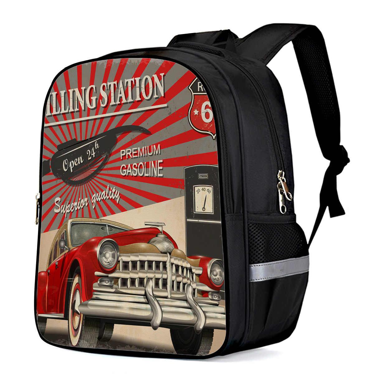 Ретро плакат с изображением автомобиля Route 66 многоцелевой рюкзак спортивный рюкзак для ноутбука Рюкзаки спортивный рюкзак походные рюкзаки сумка на плечо