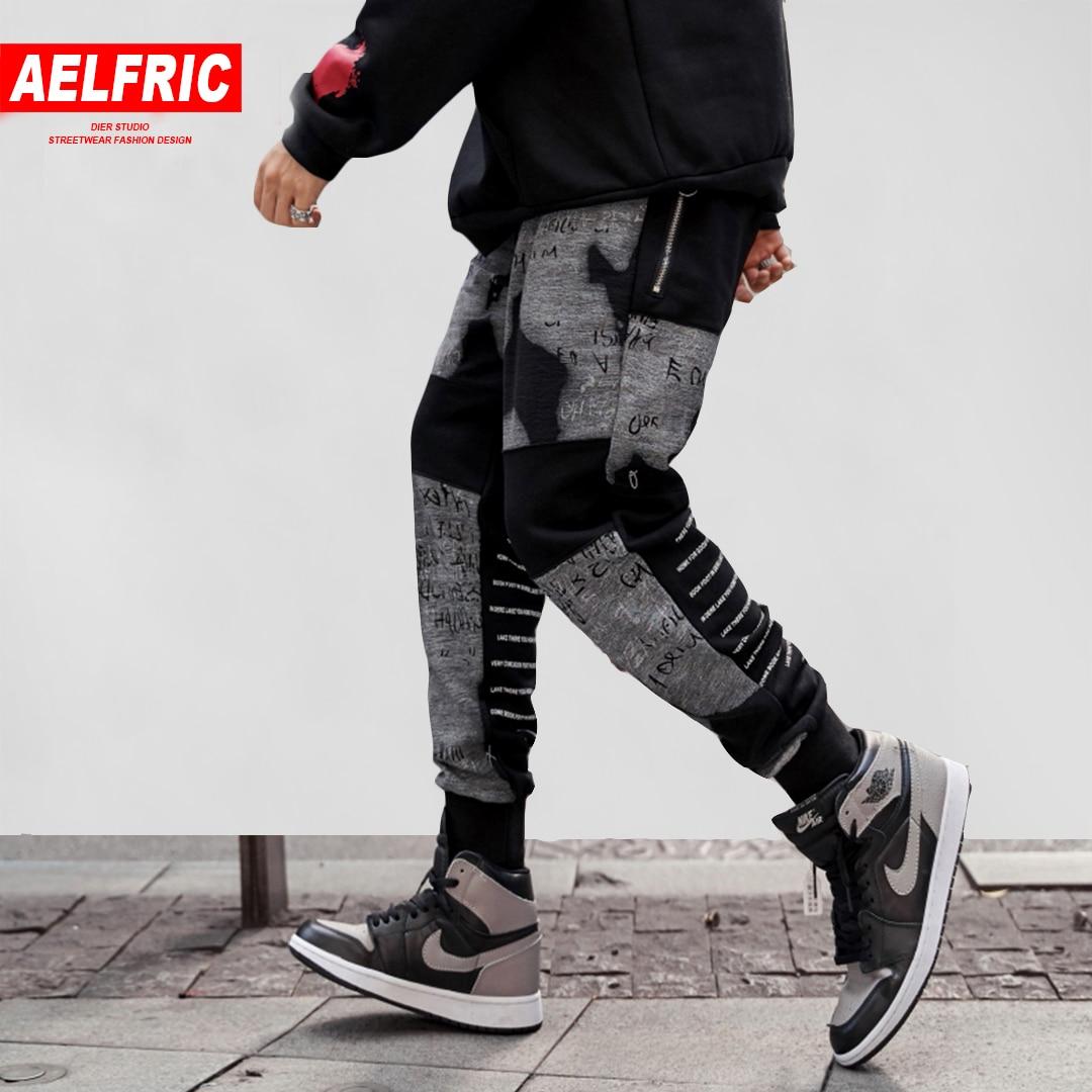 Aelfric Cotton Sweatpants Men Clothes 2018 Joggers Autumn Winter New Design Hip Hop Harem Pants Fashion Casual Streetwear Ka19