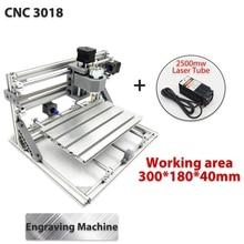 3018 3 As Mini Diy Cnc Router W/2500Mw Laser Module Houtgravure Snijden Frezen Graveur Machine