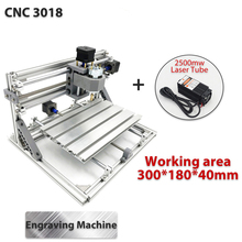 3018 3Axis Mini DIY CNC Router w/ 2500mW Laser Module Wood Engraving Cutting Milling Engraver Machine