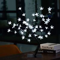Upscale Simulation Cherry Blossom Flower Glow Trees 40CM Tall 36 pcs LED Night Lights for Christmas Wedding Window Indoor Decor