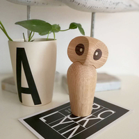 The wooden handicrafts owl Athena and the symbol of wisdom wooden play birthday gift wood bird