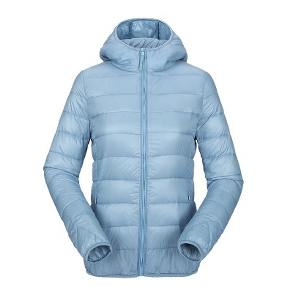 ZOGAA Women Ultra Light Down   Parkas   Hooded Winter Duck Down Jackets Women Slim Long-sleeved   Parka   Zipper Coats Winter Jackets