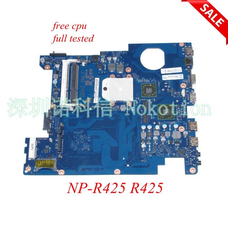 BA92-06034A BA92-06034B материнская плата для ноутбука Samsung np-r425 R425 HD5430 DDR2 BA92-06353A BA92-06353B BA41-01181A Бесплатная ЦП