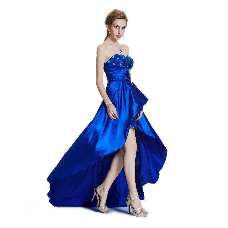 W.JOLI 2019 Večernja haljina seksi bez naramenica bez rukava Satin - Haljina za posebne prigode - Foto 4