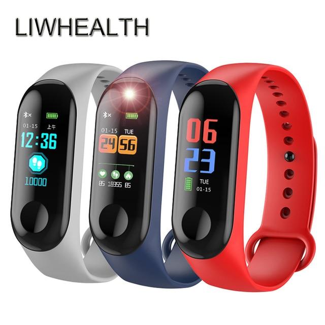 6bddd72b074 Bluetooth barato Relógio Inteligente Nadar IP68 HR BP SPO2 Health Tracker Montre  Conectar Apto Para IOS Xiaomi  Lenovo Homens Mulheres Smartwatch L3