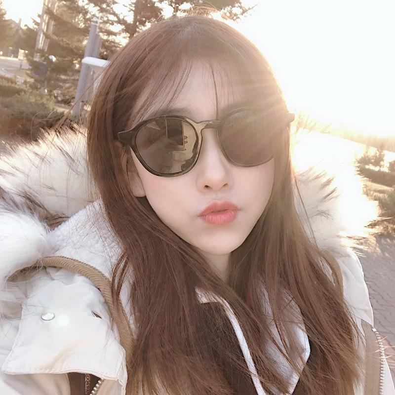 Women Fashion Korean Style Unisex sunglasses women Candy Color Large Retro Frame sun glasses 4 styles
