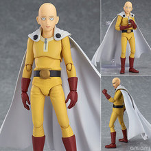14cm Anime Saitama One Punch Man Figma 310 PVC Action Figure Collectible Model Boy Girl Birthday Birthday Gift цена в Москве и Питере
