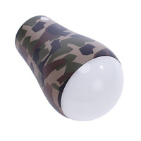 Portable Camouflage Shell Colorful Light LED USB Rechargeable Ultra Outdoor Camping Lamp Hiking Tent Campsite Hanging Lamp