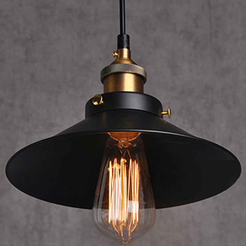 painted Iron Pendant Lighting Vintage Lamp Holder Incandescent