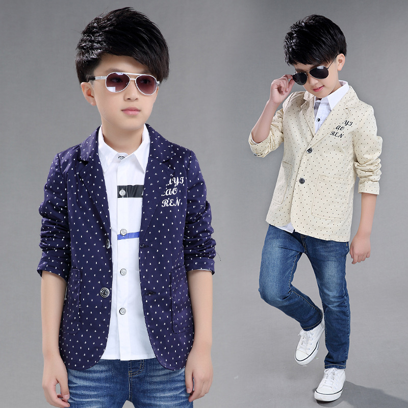 9498ff466 Children s Suit jacket Fashion Pupil Autumn Wear Leisure big Boys ...