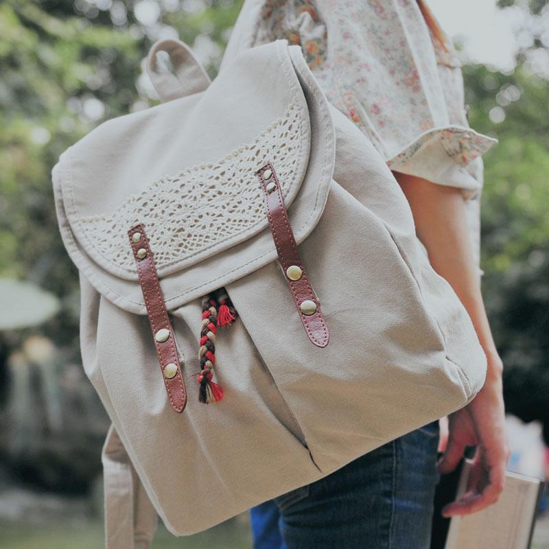 Mori Girl Literature And Art Canvas Backpack Wemen Summer Korean School Fresh Backpack Fashion University Student