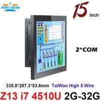 Partaker Elite Z13 15 Inch Taiwan High Temperature 5 Wire Touch Screen Intel Core I7 Cheap