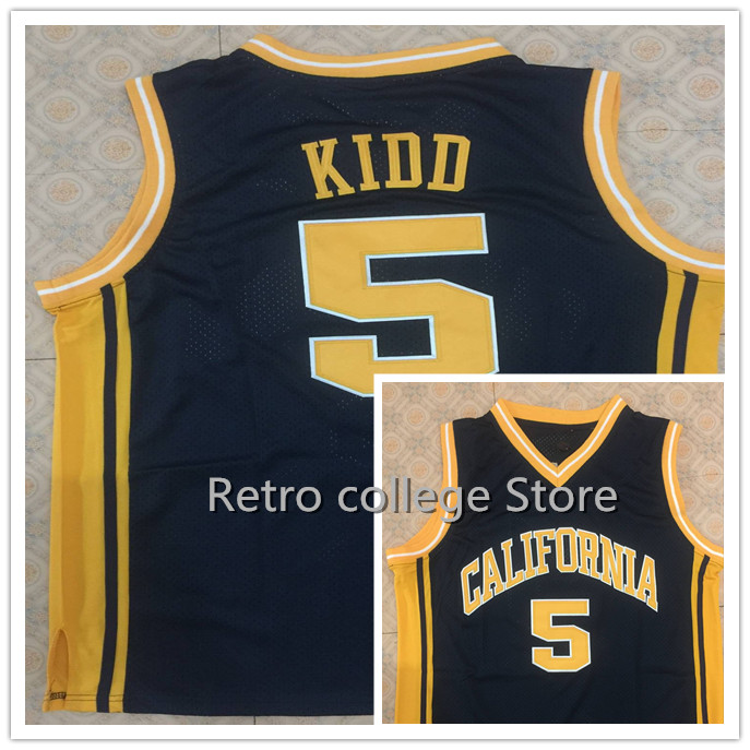 f908506a3f7 ... navy blue mens player  5 jason kidd california golden bears college  university basketball jersey any number and name jerseys retro