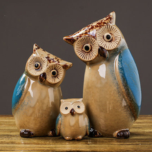 American Owl Small Ornaments Home Decorations Creative Cute Indoor Living Room Childrens Personalized Wine Cabinet Furnishings