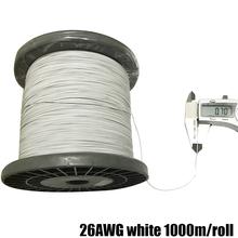 UL10064 26AWG 30AWG 32AWG 34AWG ultra-cienka specjalna delikatnie linia OK linia elektroniczna FEP PTFE wysokotemperaturowy wielopasmowy drut tanie tanio sincelian RUBBER Miedziane Silicone Headset Cable Signal Wire ze skrętek Napowietrzne Airplanes Tinned copper wire 34 32 30 26AWG