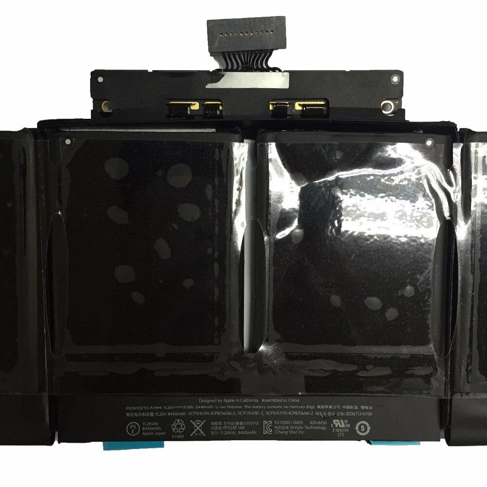 11.26 V 95Wh véritable Original nouveau A1494 batterie d'ordinateur portable pour Apple Macbook Pro 15