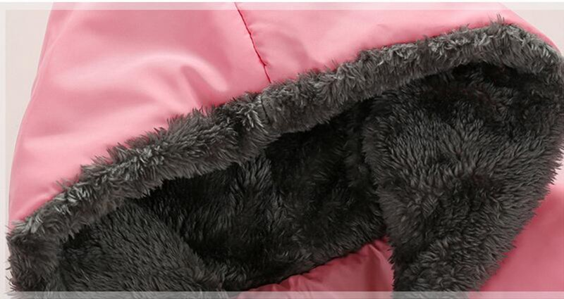 09c0e7227775 90 120cm Pointy Hat Baby Girls Winter Jackets And Coats Hooded Red ...