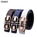 New 2017 Men Leather Belt Fashion Smooth Buckle Belt Luxury Men Casual All-Match PU Leather Men Designers Belts