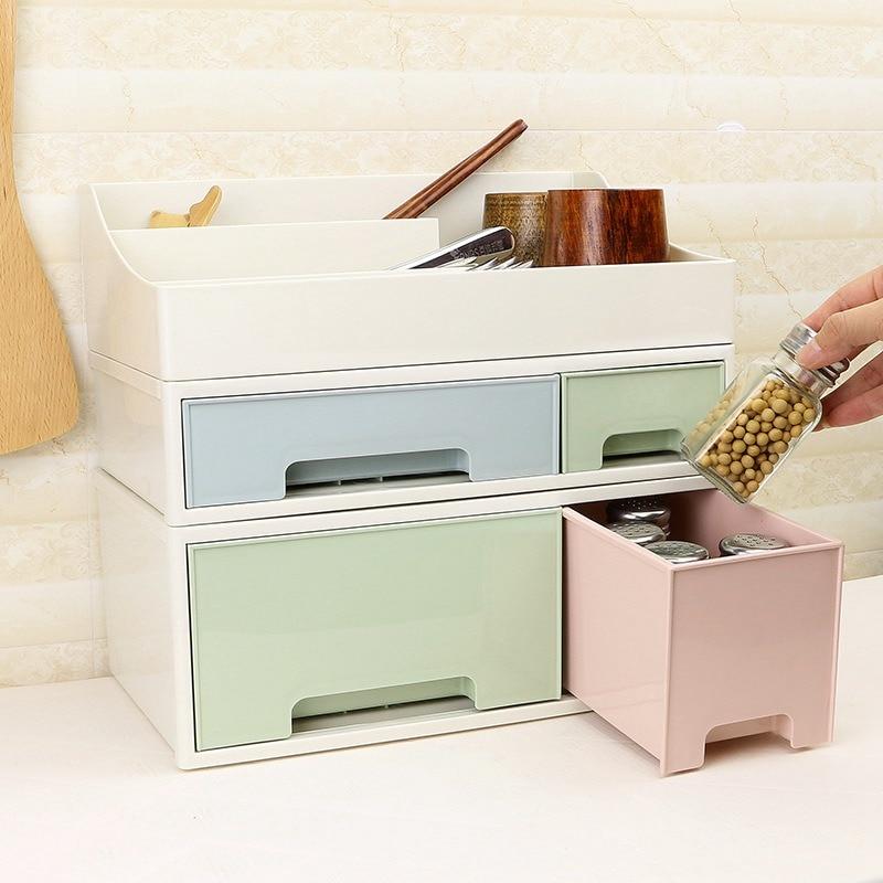Hoomall Makeup Organizer Cosmetic Creative Combinable Desktop Storage Box Jewelry Box Drawer Desktop Holder Sundries Container makeup organizer box