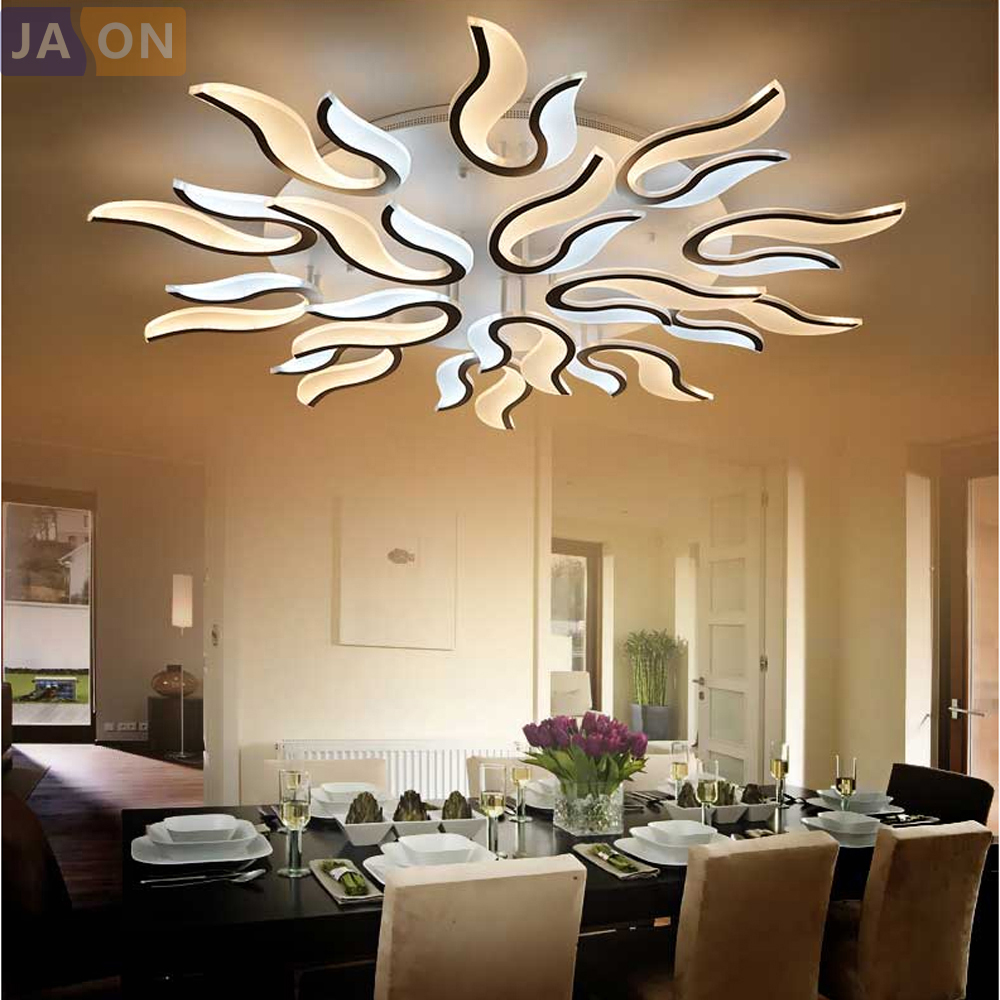 LED Modern Iron Acrylic Fire LED Lamp.LED Light.Ceiling Lights.LED Ceiling Light.Ceiling Lamp For Foyer Bedroom|ceiling lights|ceiling lamp|led ceiling light - title=
