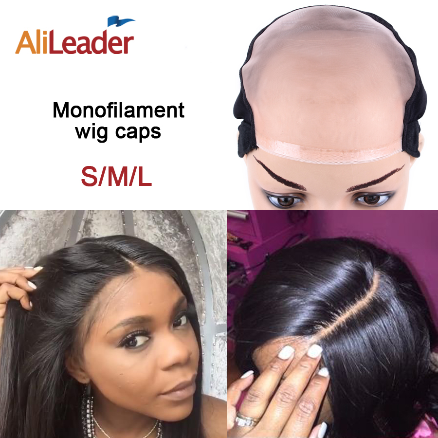 New Arrival Top L/M/S MONO Wig Caps For Making Wigs With Adjustable Strap, Durable Strong 5X5 Mono Lace Front Cap Hair Nets 3Pcs