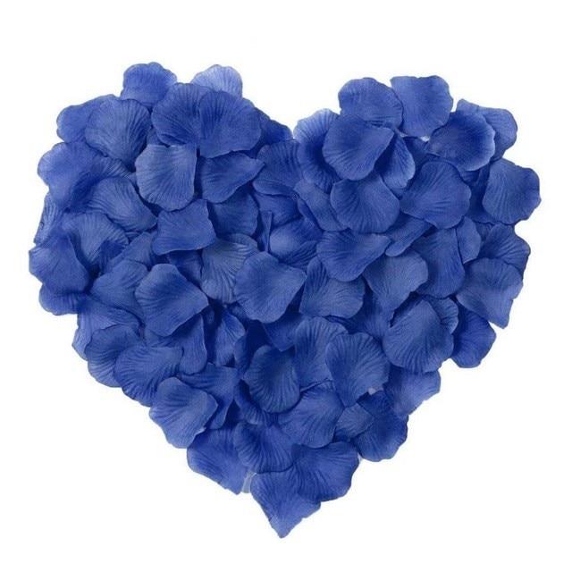 2000 шт. / партия 5* 5 см шелковые лепестки роз на свадьбу, Романтические искусственные лепестки роз Свадебные розы - Цвет: Blue