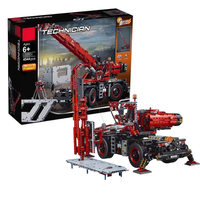 2018 new City Engineering Blocks the Rough Terrain Crane Set 42082 Model Building Kits Bricks Educational Toy Gift for Christmas