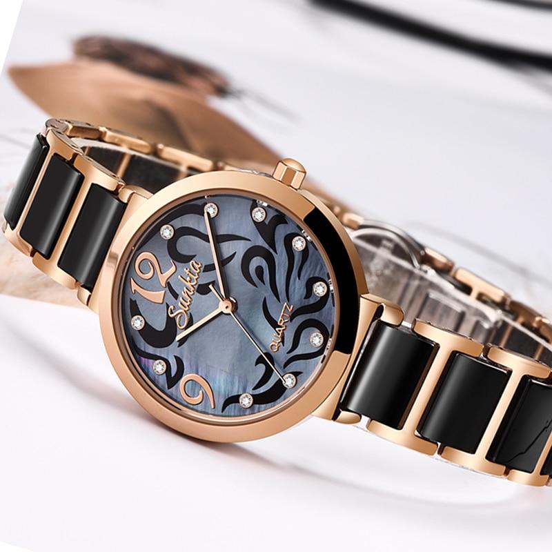 SUNKTA 2019 Hot Brand Women Watches Women Reloj Mujer Luxury Dress Watch Ladies Quartz Rose Gold Wrist Watch Montre Femme Gift