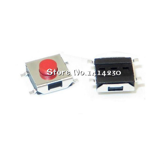 100Pcs 6*6*3.1mm 6X6X3.1H 4Pins SMD-4 touch micro switch momentary / button switch