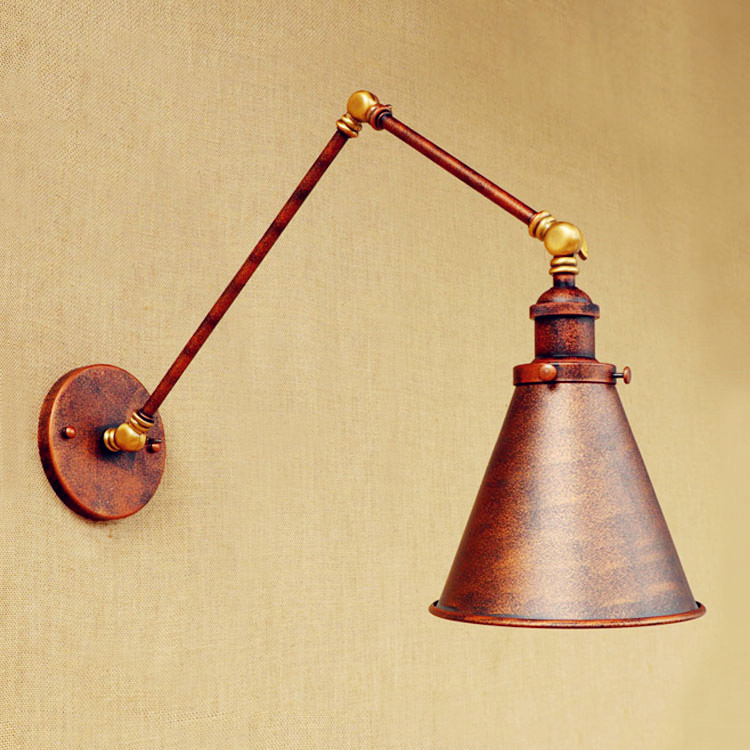 ФОТО Antique Loft Retro Industrial Wall Lamp Aplike Vintage Wall Lights Edison LED Wall Arm Sconce Appliques Murales Luminaire