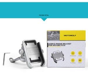 Image 5 - Haute qualité robuste en alliage daluminium rétroviseur Support de téléphone pour Moto Moto Support de Support Support pour iPhone12 GPS
