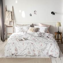 Светильник, розовые цветы, листья, постельное белье, пододеяльник, набор хлопковых постельных принадлежностей, постельное белье, простынь, простыня