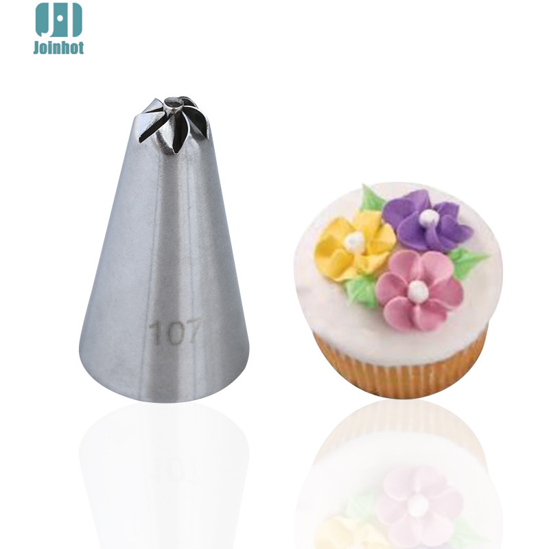 107 New arrival 1pcs Flowers Icing Piping Nozzles Pastry Tips Fondant Cake  Decorating Tools Pastry b9b09988b015