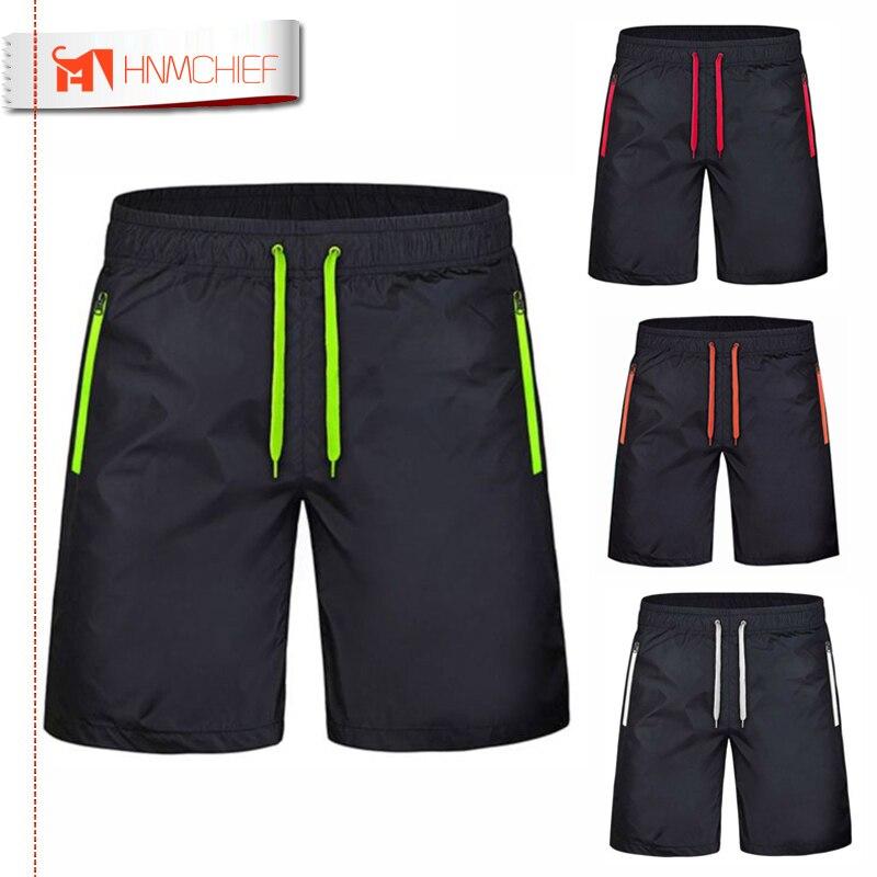 Men's Zipper Pocket Beach Shorts New Fashion Leisure Jogger Shorts Quick-drying Sea Holiday Casual Board Short Pants Breathable