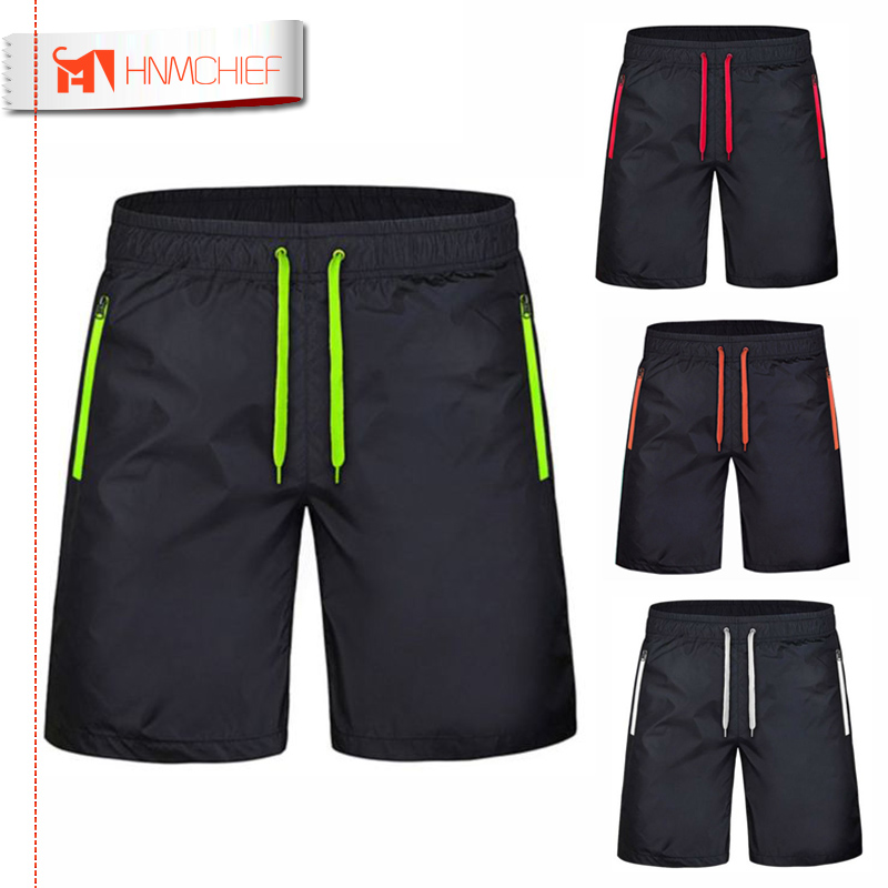 Men's Zipper Pocket Beach   Shorts   New Fashion Leisure Jogger   Shorts   Quick-drying Sea Holiday Casual Board   Short   Pants Breathable