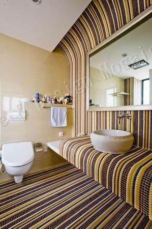 free shipping mosaic simple modern stirp design glass mosaic tile wall tile bathroom tile swimming pool