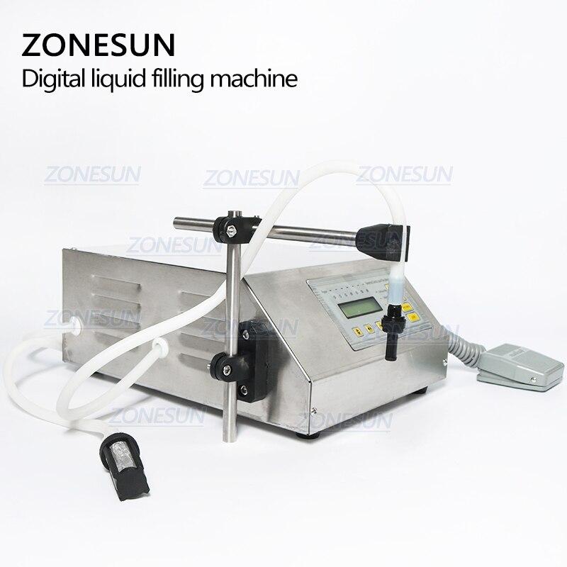 ZONESUN 5-3500 ml Machine de remplissage liquide de boisson molle d'eau contrôle numérique GFK160 eau huile parfum lait petite bouteille de remplissage - 4