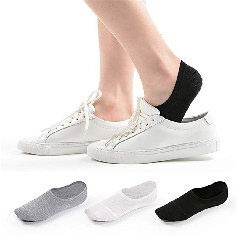 10 Pairs Adult Unisex Ankle Cotton Invisible Socks Solid Color Low Tube Casual Sundress Socks Sweat No Show Skarpetki 30Jul15