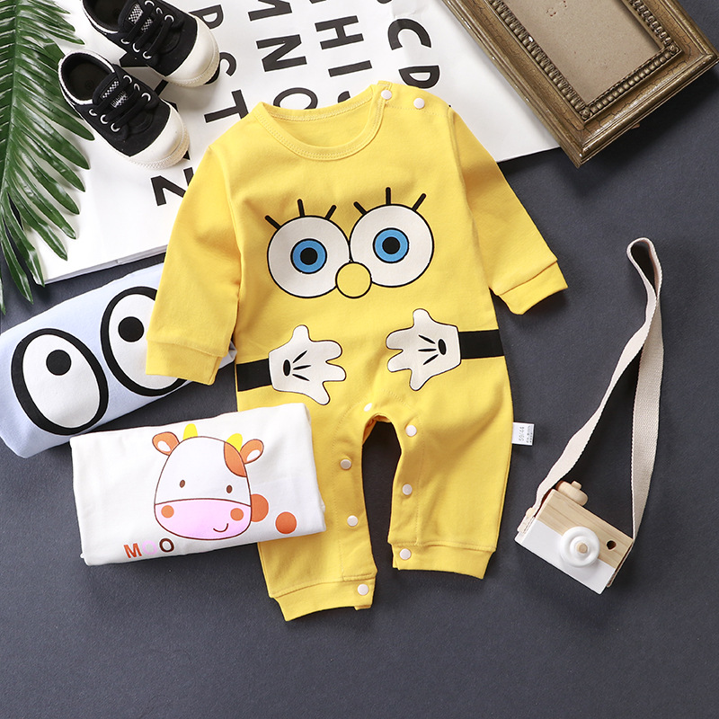 Winter clothes Newborn baby boy girl cute Cartoon Cotton Long Sleeve Baby Rompers Soft Infant Baby girl Clothing Set Jumpsuits organic cotton baby romper soft newborn baby boy girl romper clothes long sleeve infant product baby clothing set ra5 12h