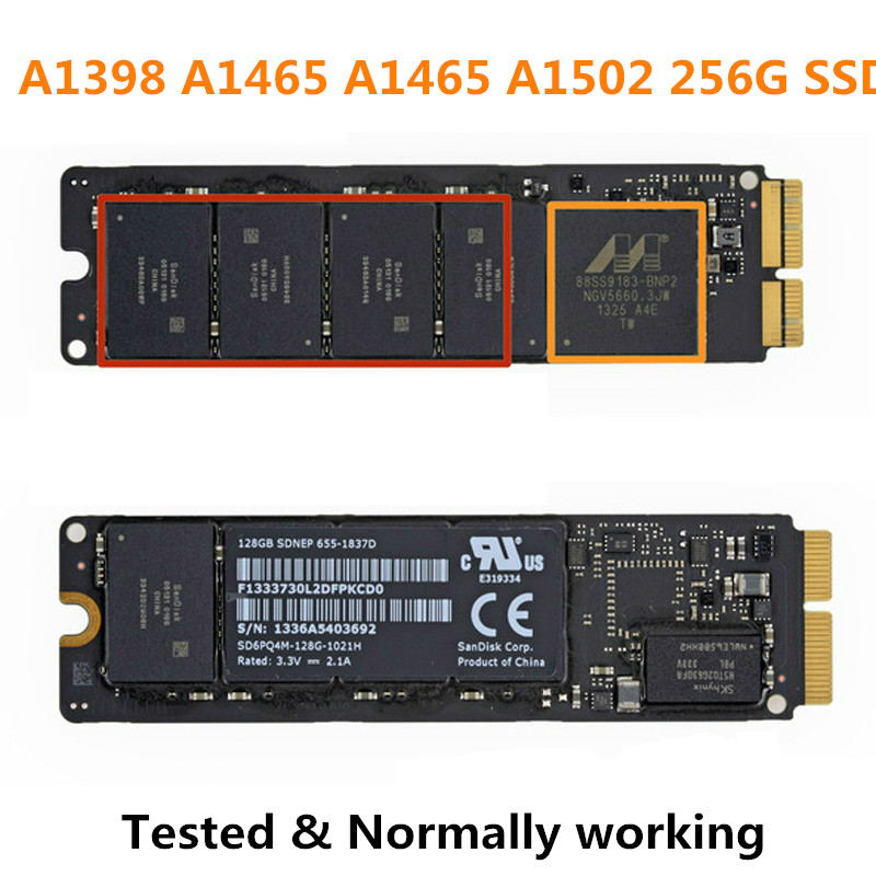 NEW LAPTOP SSD Disk For Apple AIR PRO Retina a1398 A1465 A1465 A1502 256G SSD Tested Normally Working