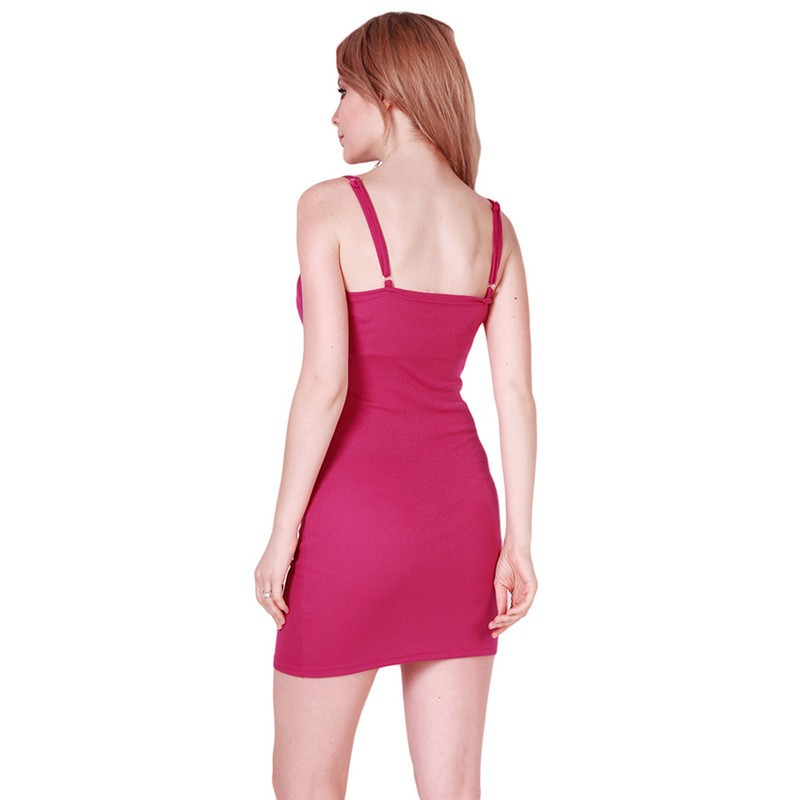 Fashion Women Sexy Backless Basic Dresses Sleeveless Slim Vestidos Vest Tanks Bodycon Dress Strap Solid Party Dress