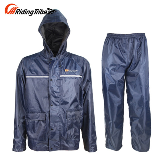 Motocicleta impermeable Trajes impermeable motocicleta chaqueta + Pantalones  Trajes moto impermeable Sets para hombres y mujeres 951d0621580