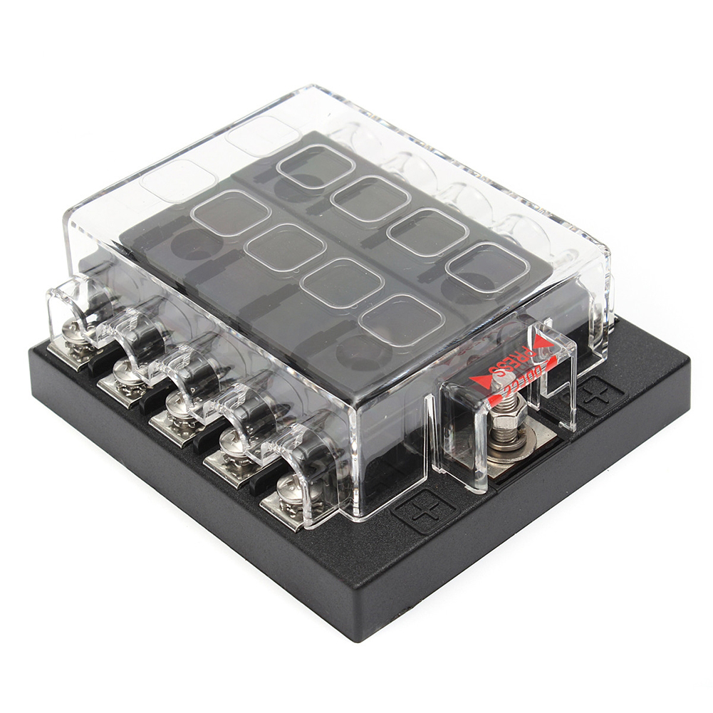 1 set 10 Way Terminal Standard Circuit Car Boat ATC ATO Blade Fuse Box  Block Holder-in Fuses from Automobiles & Motorcycles on Aliexpress.com    Alibaba ...