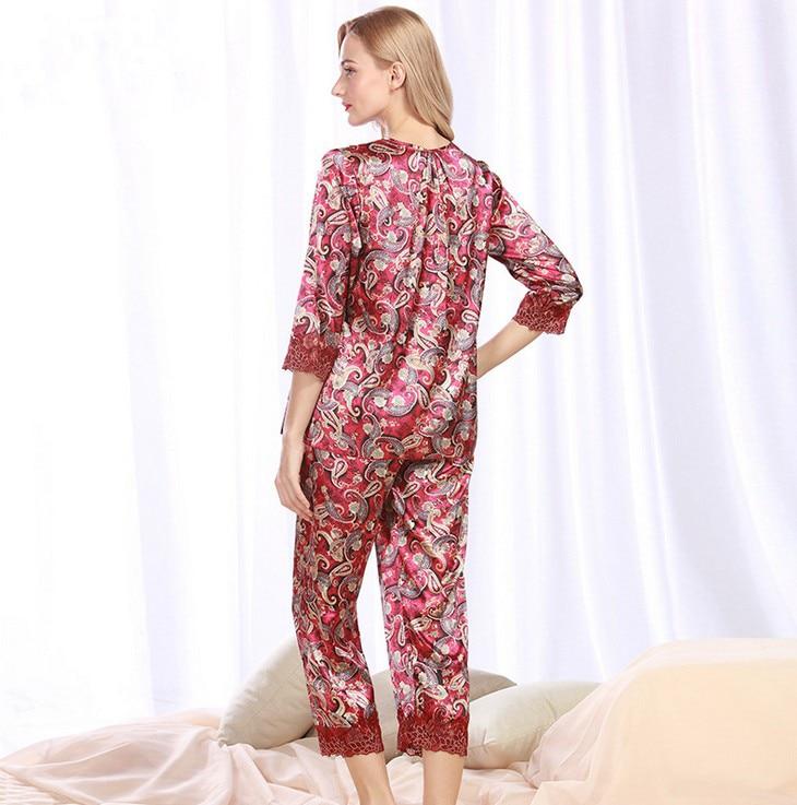 Freies Verschiffen Pyjamas Anzug Frühjahr Und Sommer Hause Pyjamas Tz339 Damen-nachtwäsche Schlaf-oberteile