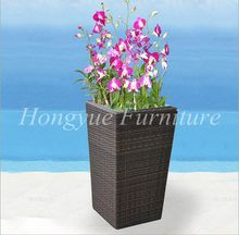 Outdoor patio brown rattan wicker flower pot furniture sale