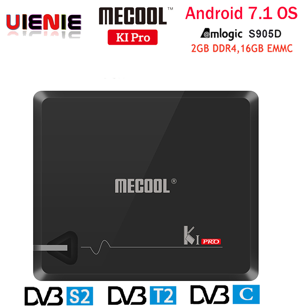 MECOOL KI PRO TV Box KI PRO S2 T2 DVB Amlogic S905D Quad 2G 16G Support
