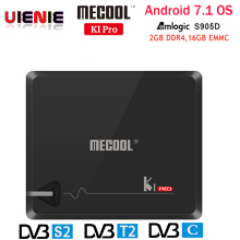 MECOOL KI PRO TV Box KI PRO S2+T2 DVB Amlogic S905D Quad 2G+16G Support DVB-T2&S2/DVB-T2/DVBS2 Set Top Box Android KIPRO TV Box