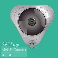 Wireless IP Camera Wi Fi FishEye 960P 360 Degree Mini CCTV VR Camera 1 3MP Home