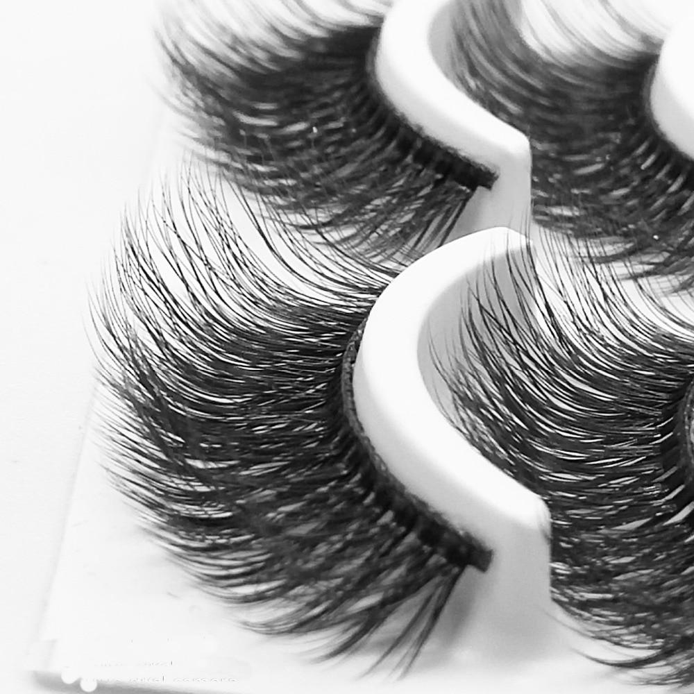 2018 NEW 10 pairs 100% Real Mink Eyelashes 3D Natural False Eyelashes 3d Mink Lashes Soft